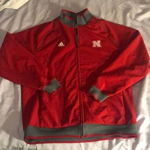 Red Adidas Nebraska Cornhuskers Jacket